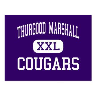 Thurgood Marshall - Cougars - High - Dayton Ohio Postcard