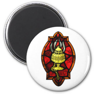 Thurible Stained Glass Window Art Magnet