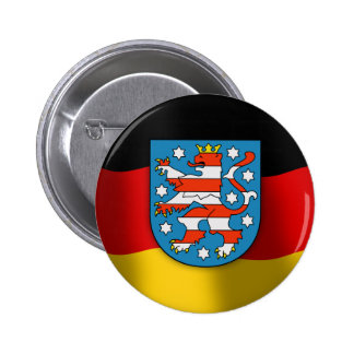 Thüringen coat of arms 2 inch round button