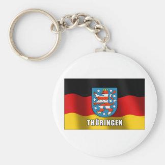 Thüringen coat of arms basic round button keychain