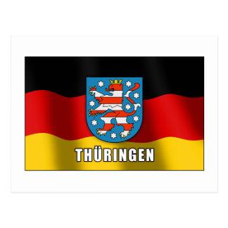 Thüringen coat of arms postcard