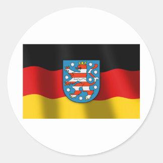 Thüringen coat of arms round sticker