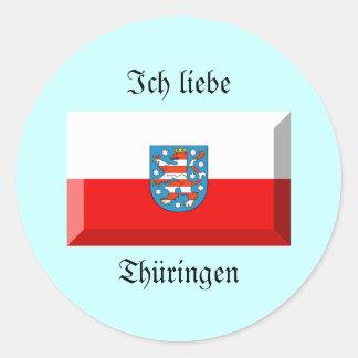 Thuringen Flag Gem Stickers