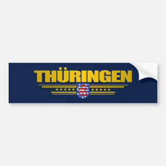 Thuringen (Thuringia) Flag Bumper Stickers