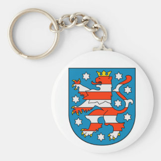 Thuringia coat of arms basic round button keychain