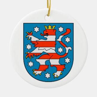 Thuringia coat of arms ceramic ornament