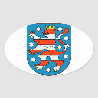 Thuringia coat of arms oval sticker