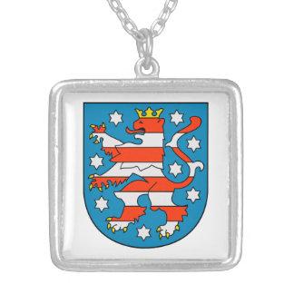 Thuringia coat of arms square pendant necklace