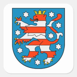 Thuringia coat of arms square sticker