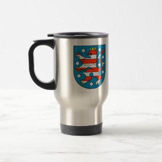 Thuringia coat of arms travel mug