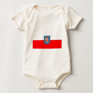 Thuringia national flag baby bodysuit