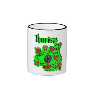 THURISAZ (ptotection) Ringer Coffee Mug
