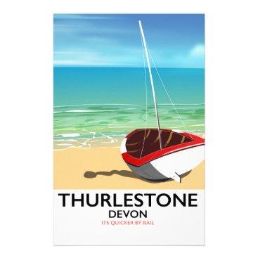 Thurlestone South Devon travel poster Stationery