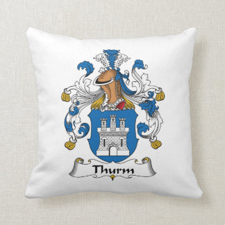 Thurm Family Crest Pillow