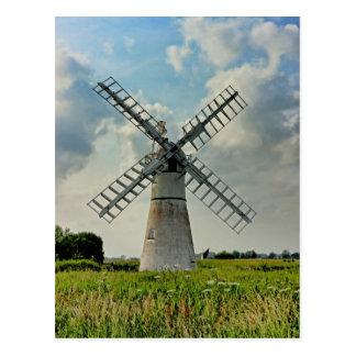 Thurne Dyke Drainage Mill Postcard