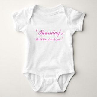"""Thursday's, child has far to go..."" Baby Bodysuit"