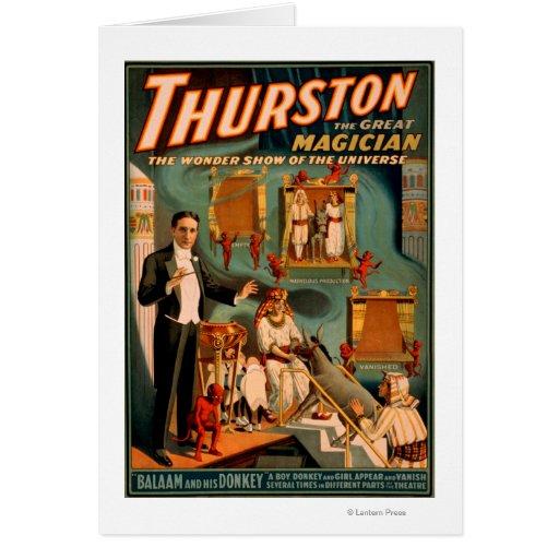 Thurston - Demons & Donkey Vanish Trick Magic Greeting Card