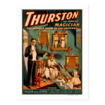 Thurston - Demons & Donkey Vanish Trick Magic Postcard