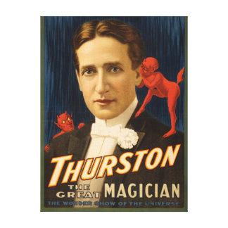 Thurston, Devil telling him secrets Magic Canvas Print