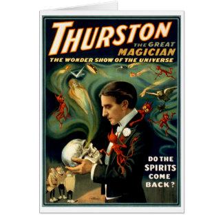 Thurston el gran mago C. 1915 Tarjeta De Felicitación