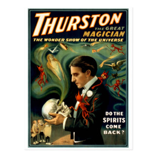 Thurston el gran mago C. 1915 Tarjeta Postal