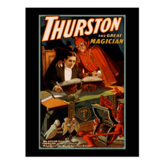 Thurston el gran mago tarjeta postal