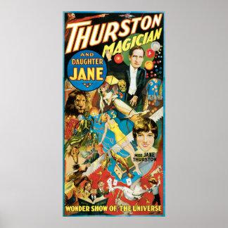 Thurston el grandes mago y hija Jane Impresiones