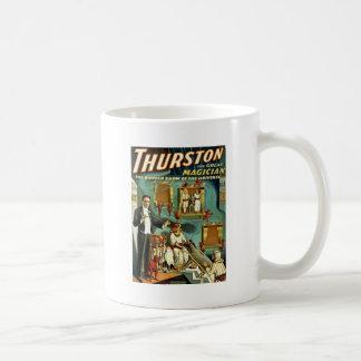 Thurston el mago - la demostración de la maravilla taza básica blanca