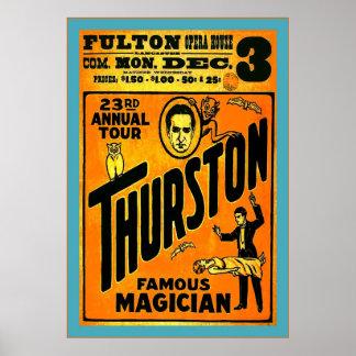 Thurston, Famous Magician ~ Vintage Magician Poster
