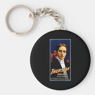 Thurston Kellar's successor Basic Round Button Keychain