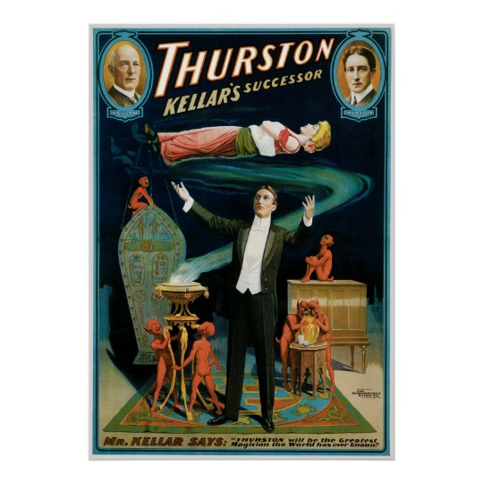 Thurston ~ Kellar's Successor Vintage Magic Act Poster