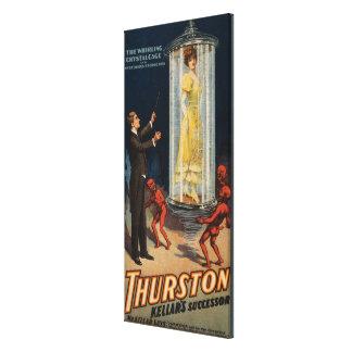 Thurston Kellar's Successor - Woman in Water Canvas Print