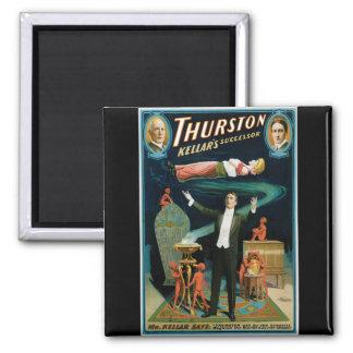 Thurston, Kellers Successor vintage Magician Magnet
