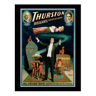 Thurston, Kellers Successor vintage Magician Postcard