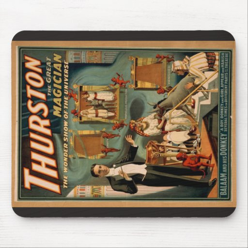 """Thurston, """"la demostración de la maravilla vintage alfombrillas de ratones"""