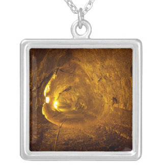 Thurston Lava Tube Hawaii Volcanoes National Park Silver Plated Necklace