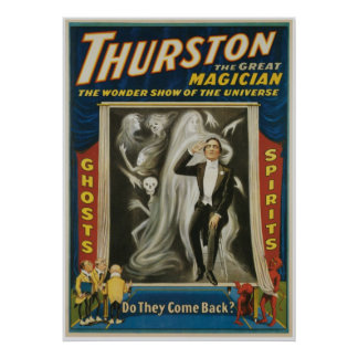Thurston Magician ~ Ghosts ~ Vintage Magic Act Poster