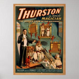 THURSTON Magician Illusionist VAUDEVILLE Poster