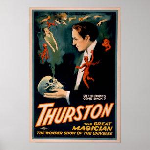 Magician illusionist vaudeville posters photo prints zazzle thurston magician illusionist vaudeville poster maxwellsz