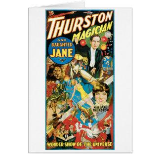 Thurston Magician & Jane ~ Vintage Magic Act Card