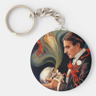 Thurston Magician Vintage Poster Basic Round Button Keychain