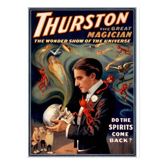 Thurston Magician Vintage Poster Postcard