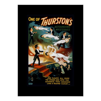 Thurston Magician Vintage Theater Poster