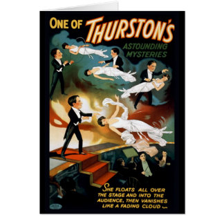 Thurston Magician Vintage Theater Poster Card