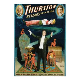"""Thurston, mago del vintage del sucesor de Kellers Invitación 5"""" X 7"""""""