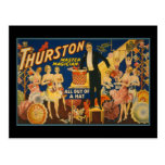 Thurston, master magician all out of a hat postcard