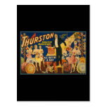 Thurston, master magician all out of a hat postcards