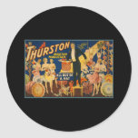 Thurston, master magician all out of a hat round sticker
