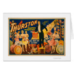 """Thurston, Master Magician """"Out of a Hat"""" Magic Greeting Cards"""