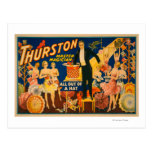"""Thurston, Master Magician """"Out of a Hat"""" Magic Post Card"""